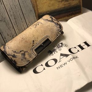 Authentic COACH Animal Print Wallet!